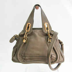 Chloe Paraty Small Women's Leather Handbag,Shoulder Bag Dark Khaki BF531574