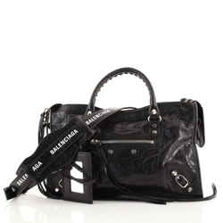 Logo Strap City Classic Studs Bag Leather Small