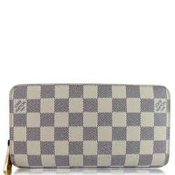Louis Vuitton Damier Azur Zippy Long Wallet White