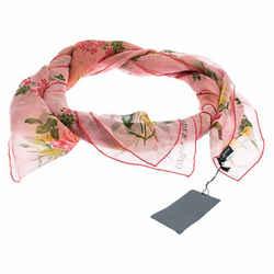 Alexander McQueen Multicolor Botanical Print Silk Scarf