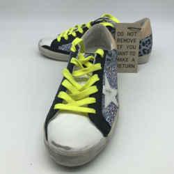 Golden Goose Blue Glitter Sneaker 8