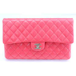 Chanel Quilted New Clutch - Red
