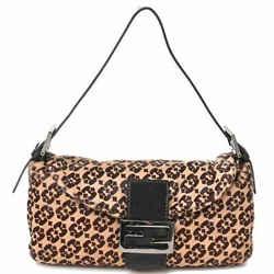 Auth Fendi Fendi Mamma Bucket Harako Shoulder Bag Brown