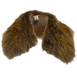 Brunello Cucinelli Brown Fox Fur Collar