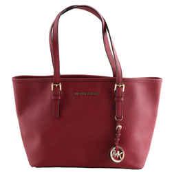 Michael Kors Jet Set Saffiano Leather Tote Red Shoulder Bag