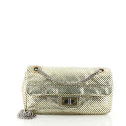 Drill Flap Bag Perforated Leather Small