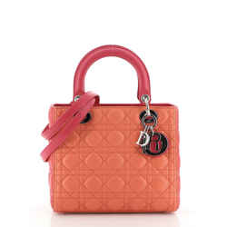 Tricolor Lady Dior Bag Cannage Quilt Leather Medium