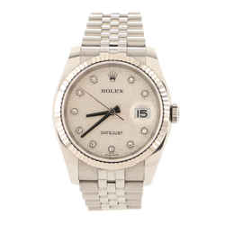 Oyster Perpetual Datejust Automatic Watch Stainless Steel and White Gold with Jubilee Dial and Diamond Markers 36