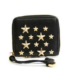 Jimmy Choo Women's Leather Studded Coin Purse/coin Case Black BF532810