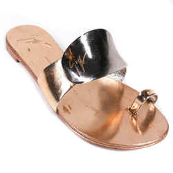 Giuseppe Zanotti - Metallic Toe Ring Sandals - Rose Gold Flat Slide - Us 7 - 37