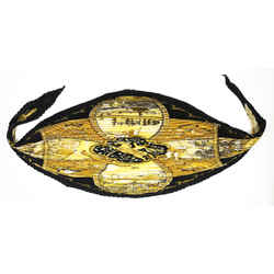 Hermes Black & Gold Silk La Vie A Cheval Scarf