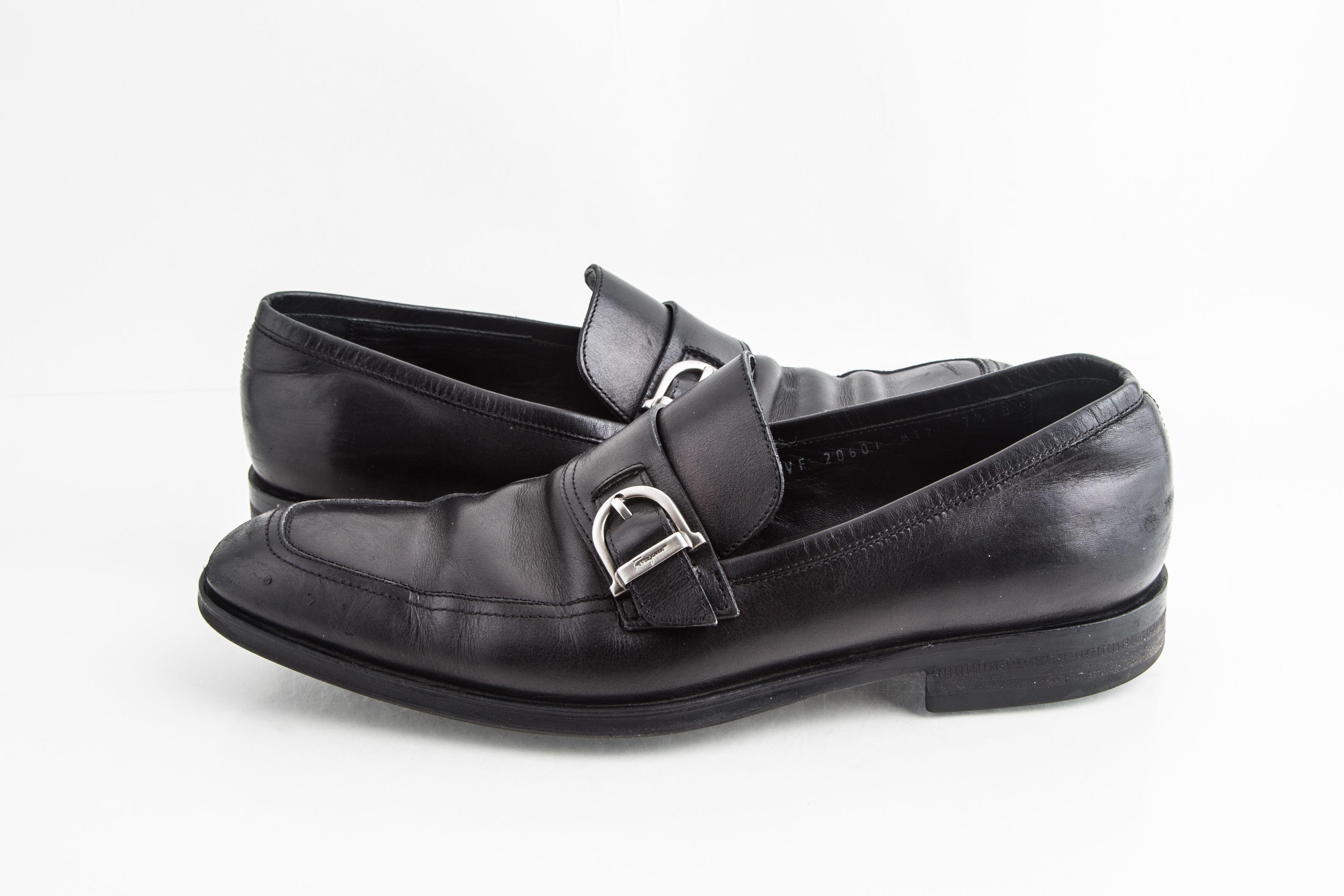 Salvatore Ferragamo Black Leather