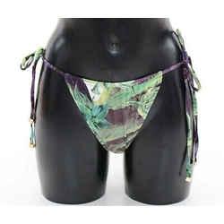 Dolce & Gabbana Aubergine Bikini Bottom Logo Swimwear Women's Beachwear
