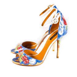 Dolce&gabbana Keira Majolica Print Sandals