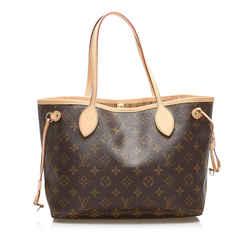 Brown Louis Vuitton Monogram Neverfull PM Bag