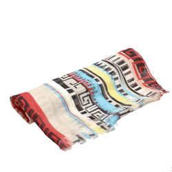 Multi Versace Printed Silk Scarf