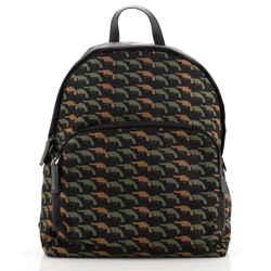 Double Zip Backpack Printed Tessuto Medium