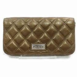 Chanel PNY- Paris New York Brown Quilted Zippy Wallet Zip Around 860607
