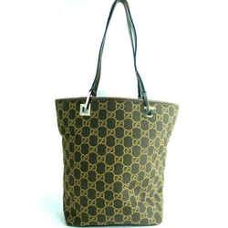 Gucci Monogram Eclipse Bucket Tote Brown 2ga63