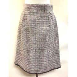 CHANEL Pink/Multicolor Fantasy Weave Crystal Embellished Skirt Size: FR38/US6