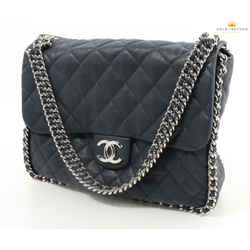 Chanel Caviar Quilted Jumbo Flap Shoulder Bag