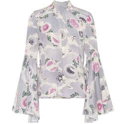Co Chrysanthemum Silk Floral Blouse Size: 4 (S)