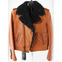 Saint Laurent Fur Collar Leather Jacket