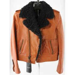 Saint Laurent Fur Collar Leather Jacket