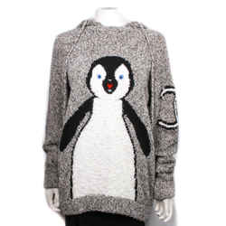 Chanel - Penguin Hoodie Sweater Cc Mohair 2007 Grey Black 07a - Us 8 - 40