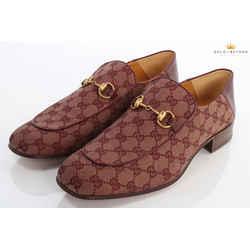 Gucci Mister GG Canvas Horsebit Fold Down Loafers  Size 11.5 EU (12 US)