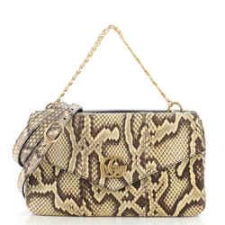Thiara Double Shoulder Bag Python and Leather Medium