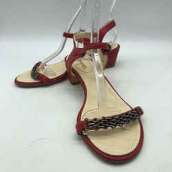 Chanel Red Chain Strap Sandal 10