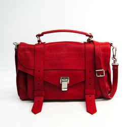 Proenza Schouler Medium Lux True Red H0002 Women's Leather Handbag Red Bf342075