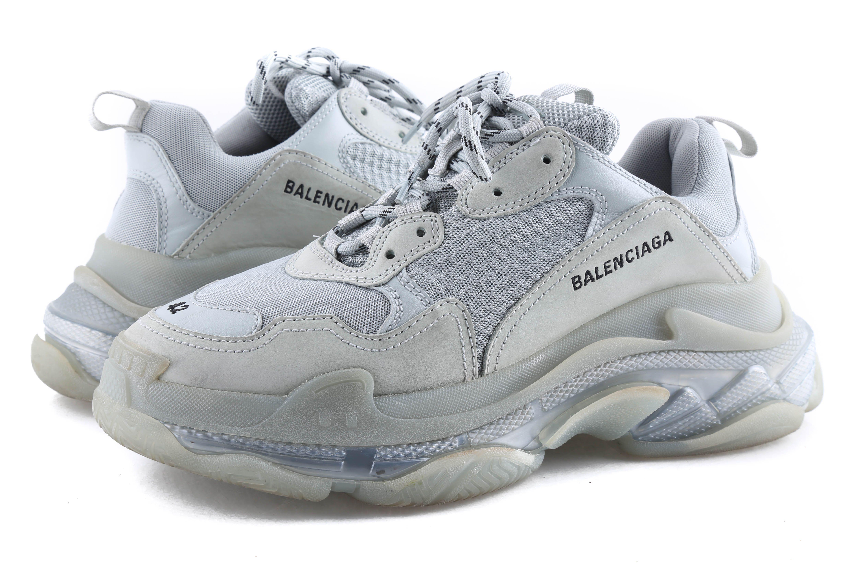 Balenciaga Pearl Grey Triple S Clear