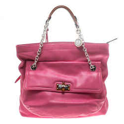 Lanvin Pink Leather Chain Shoulder Bag