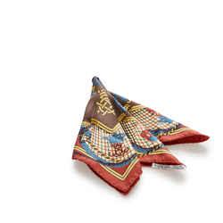 Red Hermes Grande Tenue Silk Scarf