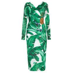 New Embellished Banana Leaf Dress