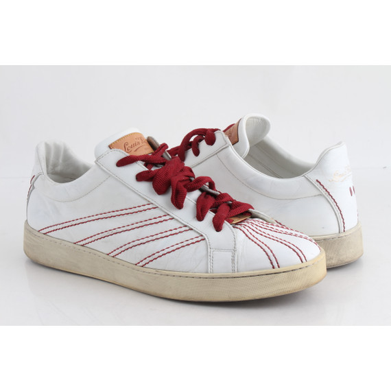 Louis Vuitton Low-Top Red Trim Trainer Sneakers