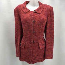 St John Pink Knit Jacket 12
