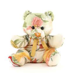 Teddy Bear Toy Printed Silk