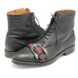 Gucci Pebbled Calfskin Dionysus Web Martins Boots