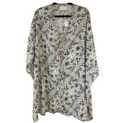 Zadig & Voltaire Raba Paisley Printed Short Casual Dress Size: 8 (m) Length: Mid-length