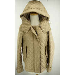 Burberry Brit Leightonbury Diamond Quilted Coat Size Small / Petite $895 Hooded