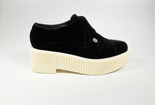 Black Velvet Platform Creepers Sneakers
