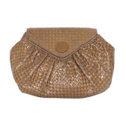 Fendi Vintage Leather Woven Clutch