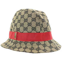 Gucci Navy x Red Monogram GG Bucket Hat Fisherman Cap 333ggs223