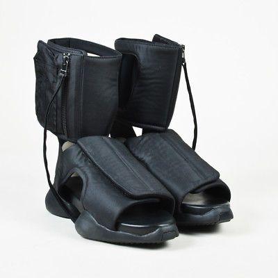 Rick Owens $775 Black Nylon Open Toe