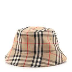 Bucket Hat Vintage Check Canvas Large