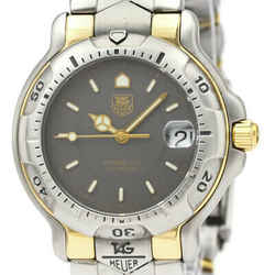 Polished TAG HEUER 6000 Professional 18K Gold Steel Mens Watch WH1252 BF532662