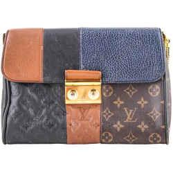 Louis Vuitton Limited Edition Marine Monogram Blocks Pochette Plate Clutch Bag